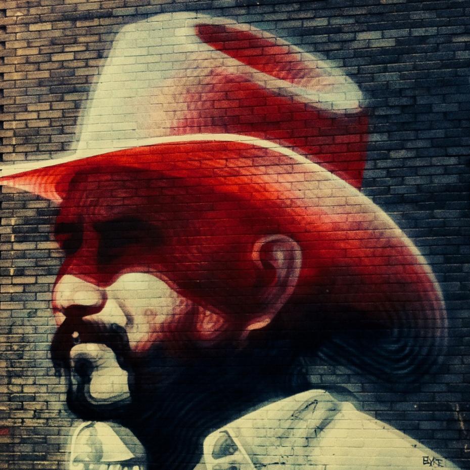 Street art by El Mac, Shoreditch, East London