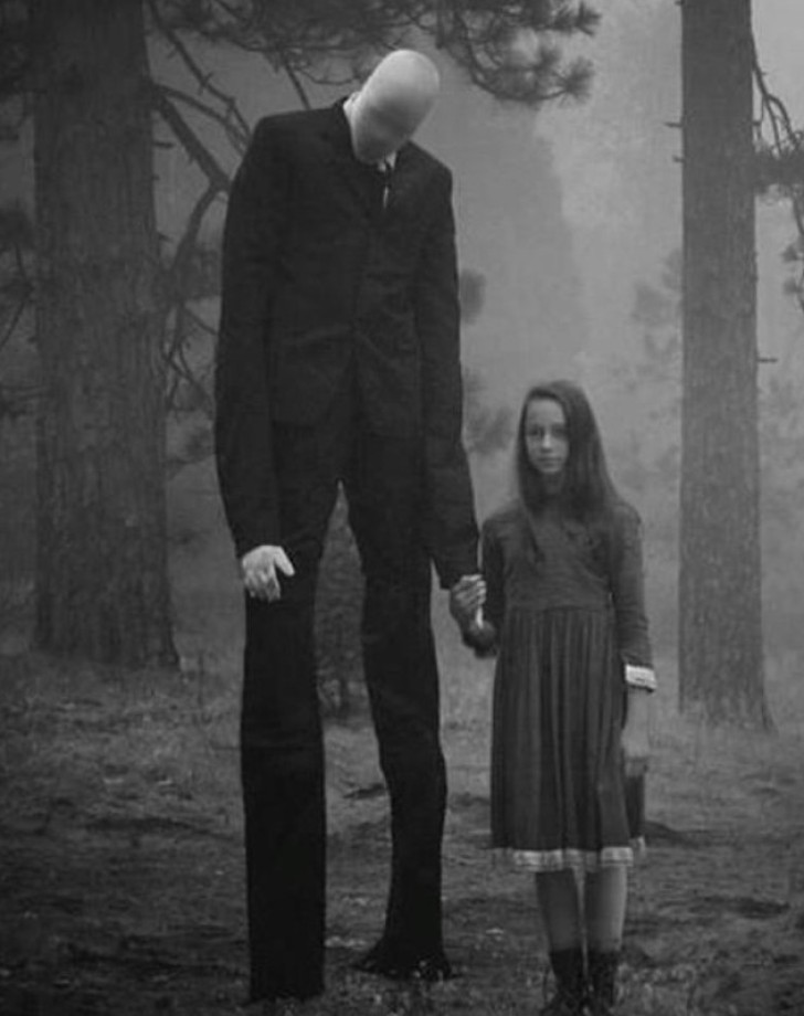 Portrait of Slender Man