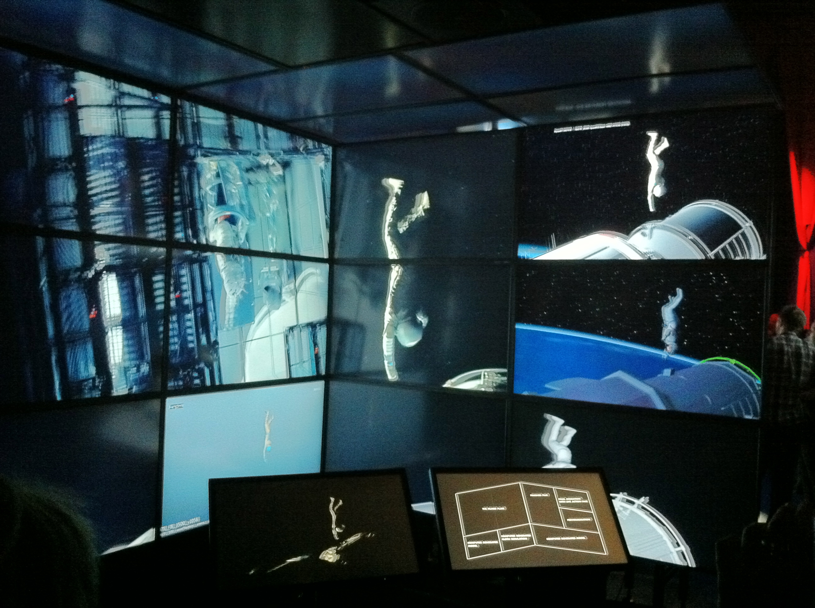 """Gravity""'s special effects explained at Barbican Centre during the ""Digital Revolution"" exhibition."