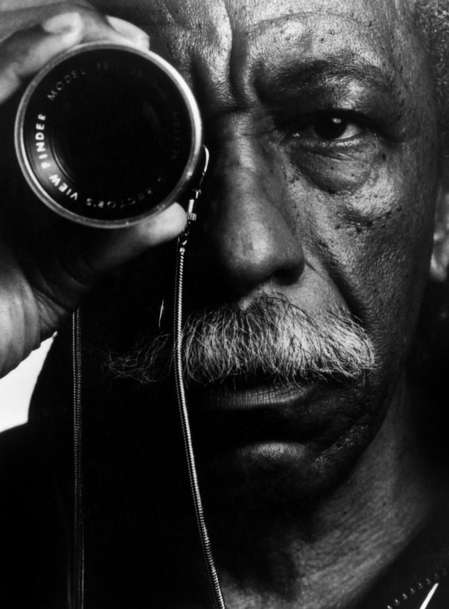 Portrait of Gordon Parks: photographer, writer, musician and director. © The Gordon Parks Foundation.
