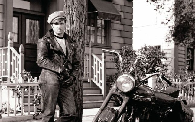 "Marlon Brando in ""The Wild One"", directed by László Benedek in 1953"