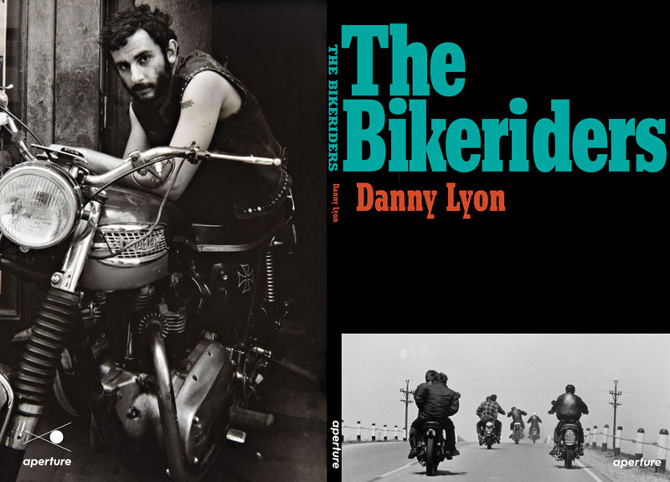 "Danny Lyon on the back cover of the re-issue of ""The Bikeriders""."