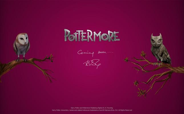 J. K. Rowling's announcement for the launch of Pottermore.