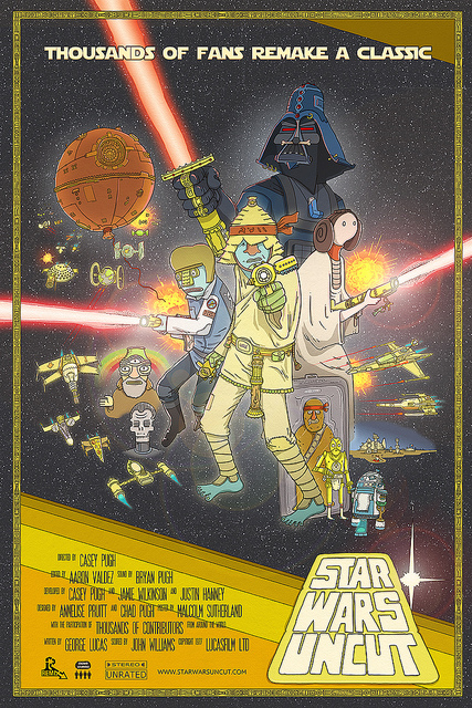 """The official poster for """"Star Wars Uncut"""""""