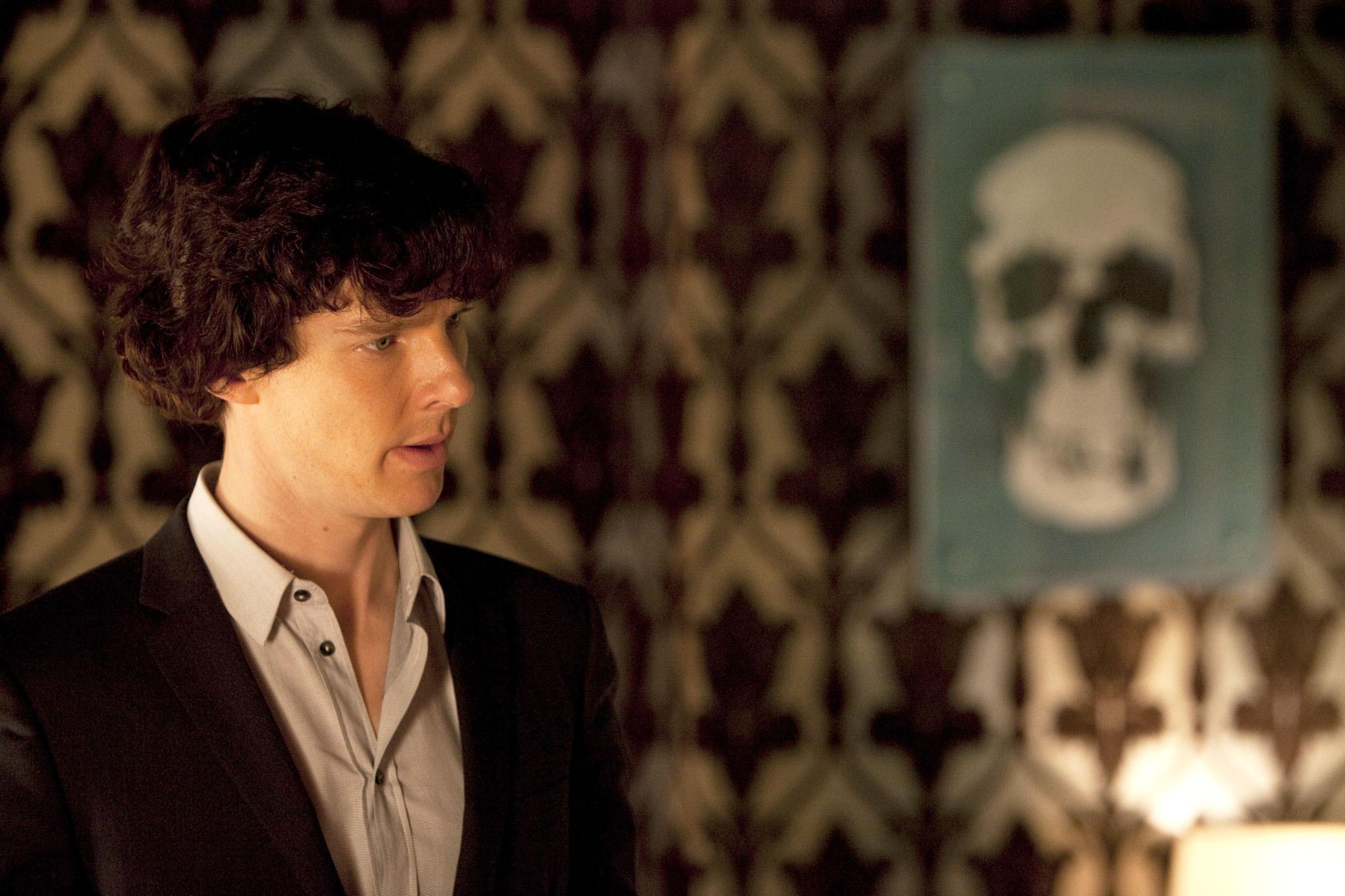 Promotional photo portraying Benedict Cumberbatch as Sherlock Holmes.