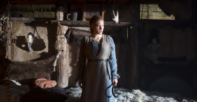 "From Episode 1x1, ""Rites of Passage"": Lagertha, Ragnar's wife, played by Katheryn Winnick (Photo credit: Jonathan Hession)."