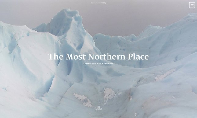 """Screenshot of the interactive documentary """"The Most Northern Place"""""""