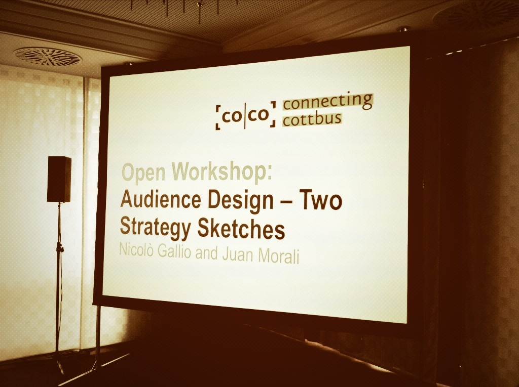 Audience Design open workshop. Photo credits: Nicolò Gallio