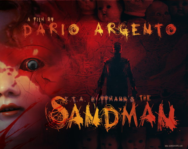 "Early poster design for ""The Sandman"", by Paul Gerrard"