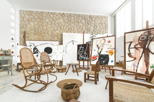 Atelier Sert. Fundació Pilar i Joan Miró. © Successione Miró by SIAE 2014. Photo: © Joan Ramón Bonet & David Bonet.