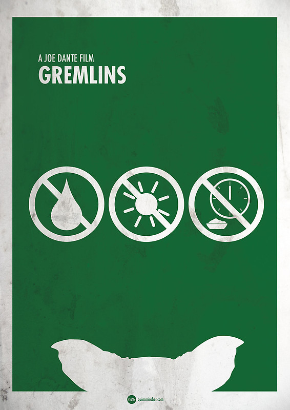 "Minimal poster for ""Gremlins"" by Quim Marbet"