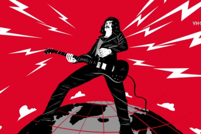 "Tony Iommi as portrayed in VH1.com's ""The Complete History of Heavy Metal: Fingers Bloody Fingers"""