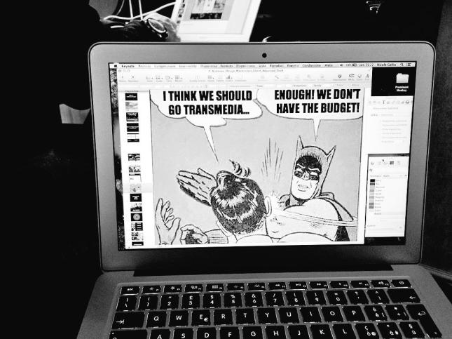Adding memes to our presentation: a new version of Batman & Robin.
