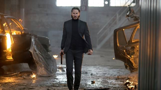 Keanu Reeves as John Wick. Costume design by Luca Mosca.