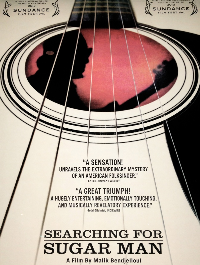 "Poster for Malik Bendjelloul's documentary ""Searching for Sugar Man""."