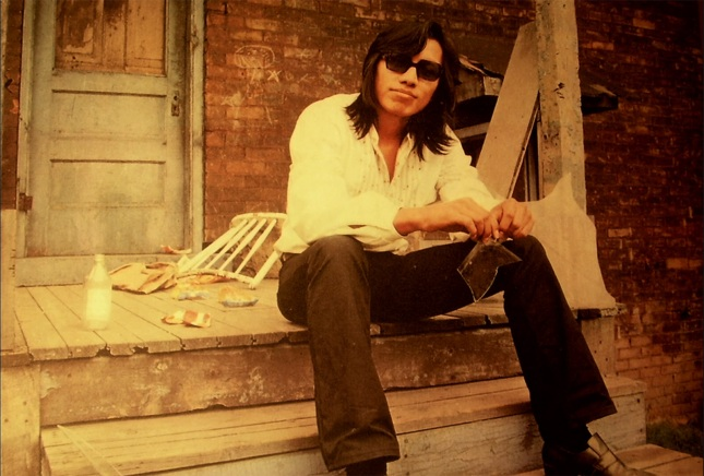 """American folk singer Sixto Rodriguez as featured in the photo for the cover of """"Coming from Reality"""", his second and final studio album."""