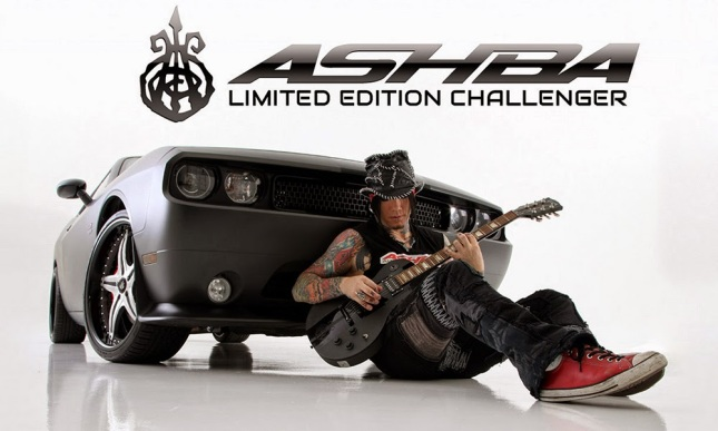D.J. Ashba, his signature Gibson Les Paul and limited edition Dodge Challenger.