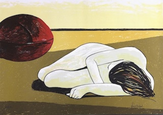 """Marco Lusini """"Untitled"""" – (late 1970s) – Lithograph – 50x70cm – Private Collection"""