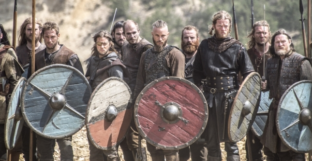 Ragnar, Floki and the Viking warriors (Photo credit: Bernard Walsh).