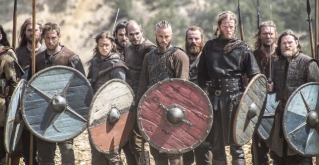 Ragnar, Floki and the Viking warriors (Photo credit: Bernard Walsh).
